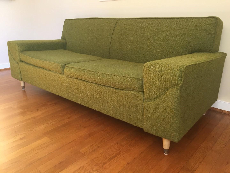 Mid Century Modern Two Cushion Sofa By Kroehler Epoch