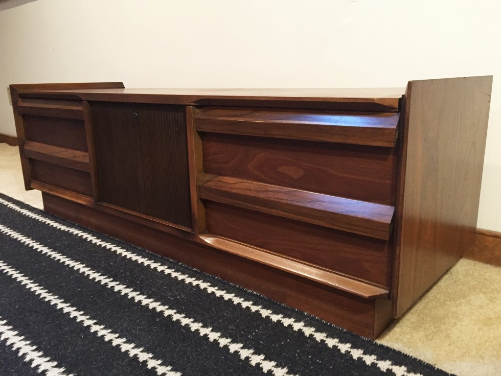 Walnut Cedar Lined Blanket Chest By Andre Bus For Lane Epoch