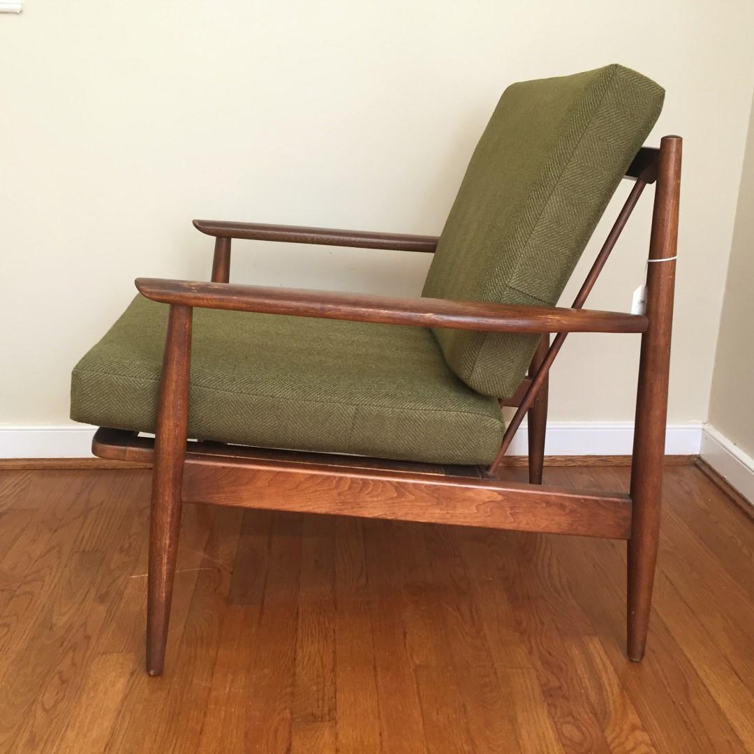 Mid Century Modern Walnut Armchair by Baumritter - EPOCH