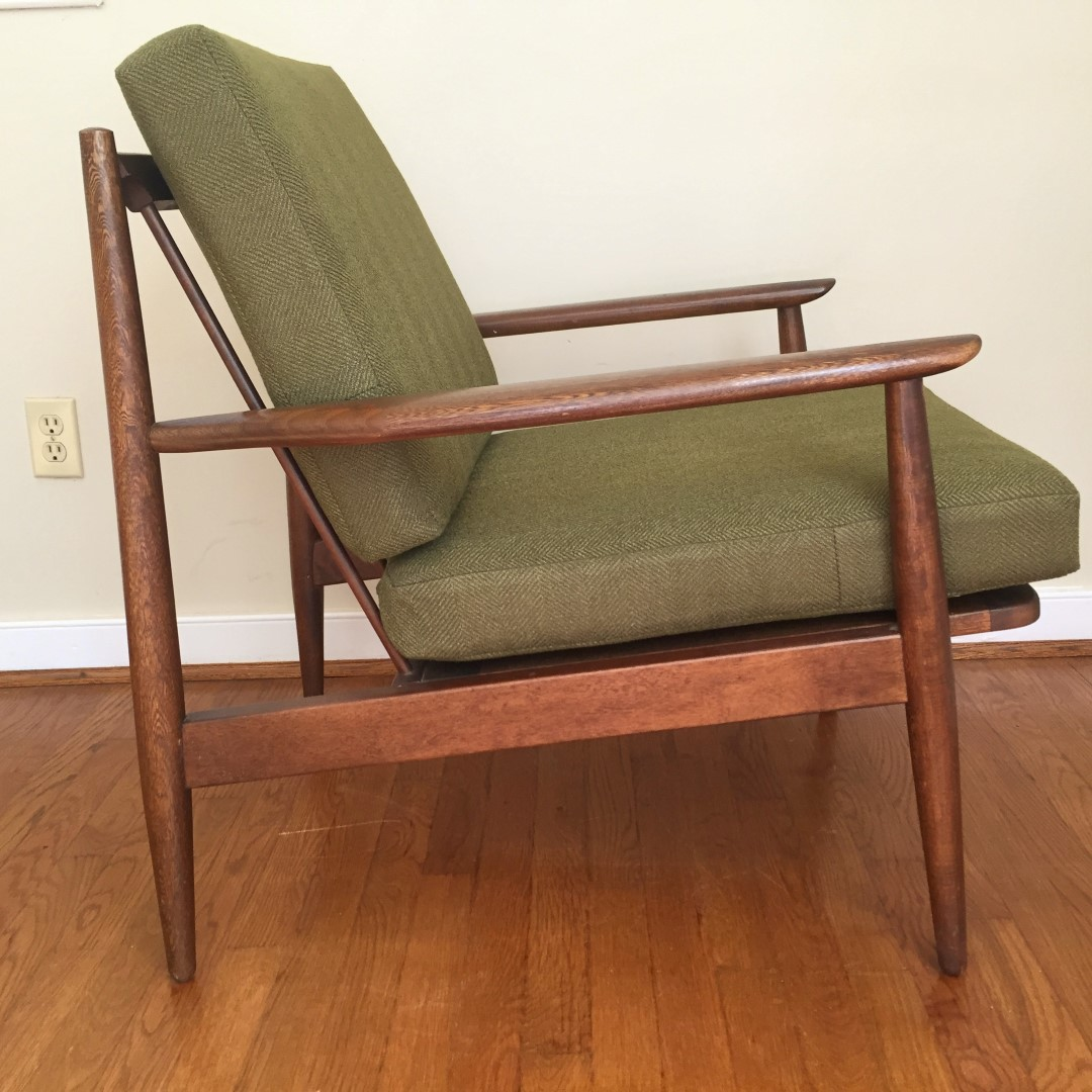 Mid Century Modern Wood Chair ~ Mid century modern walnut armchair by baumritter epoch