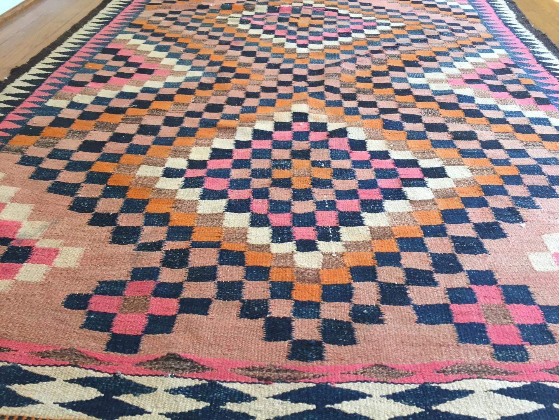 vintage Afghani flatweave rug