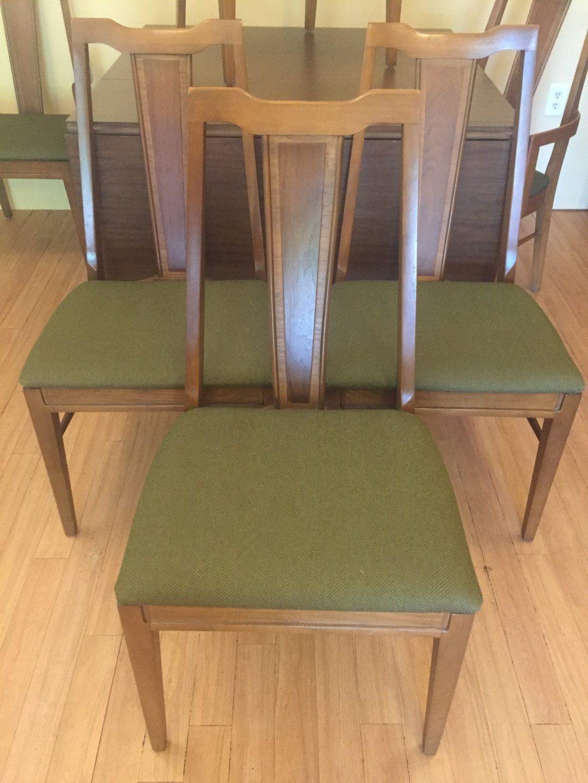 vintage mid century pecan dining chairs basicwitz