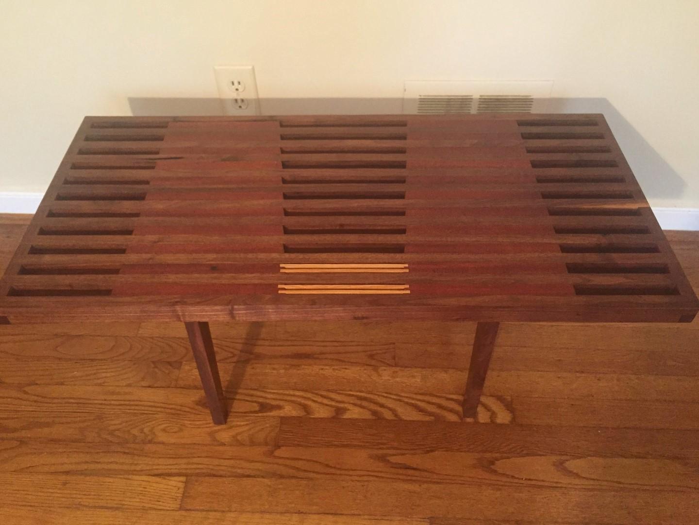 modern handcrafted coffee table walnut mahogany Nathaniel Newcomb