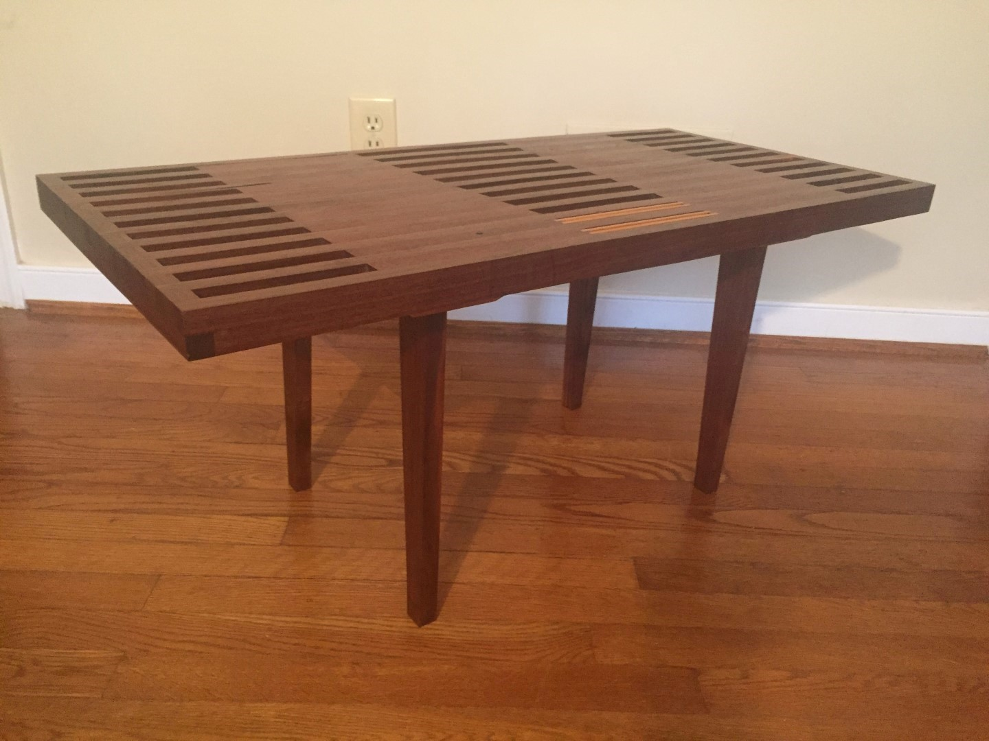 Coffee table in walnut and mahogany with oak accents by nathaniel coffee table in walnut and mahogany with oak accents by nathaniel newcomb geotapseo Gallery