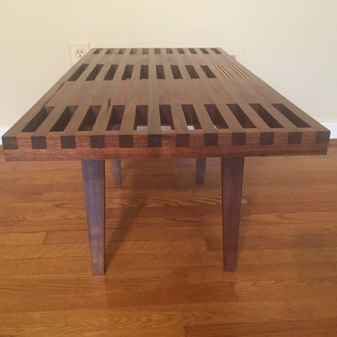 Handcrafted coffee table by local artisan nathaniel newcomb epoch Handcrafted coffee table