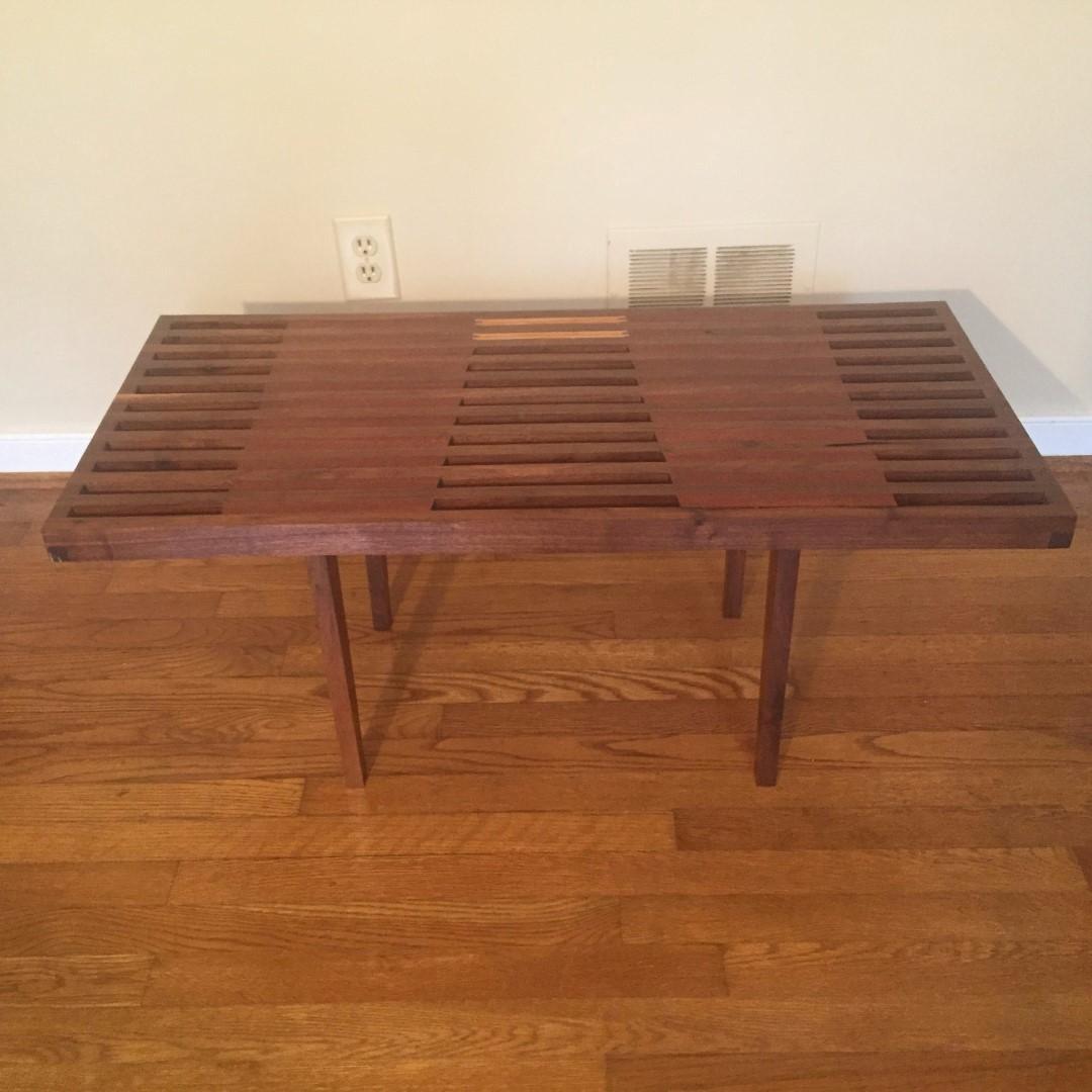 ... Modern Handcrafted Coffee Table Walnut Mahogany Nathaniel Newcomb