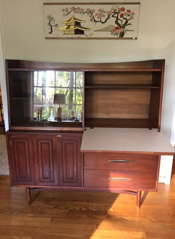 Excellent Vintage Mid Century Modern Bar Credenza from Broyhill Sculptra  AK54