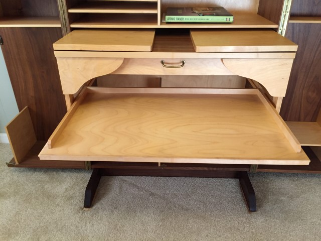 Vintage Norwegian Teak Hideaway Desk Epoch