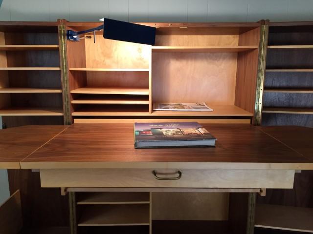 vintage norwegian teak hideaway desk