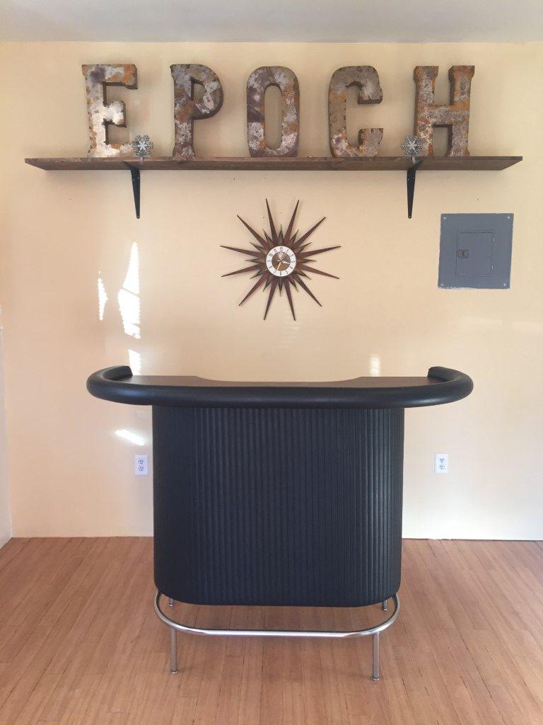 mid century modern vinyl bar chrome footrest 4 barstools