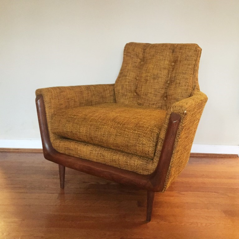 Vintage Mid Century Lounge Chair In The Style Of Adrian Pearsall