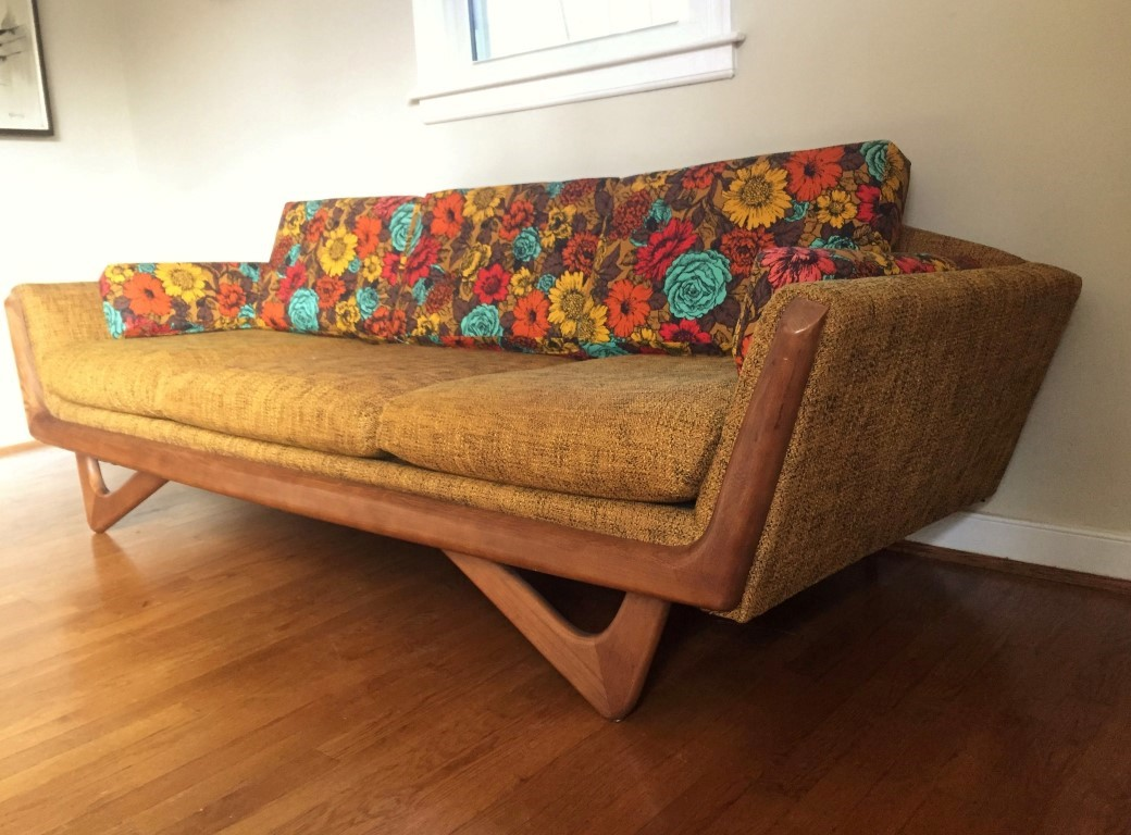Vintage Mid Century Gondola Sofa In The Style Of Adrian