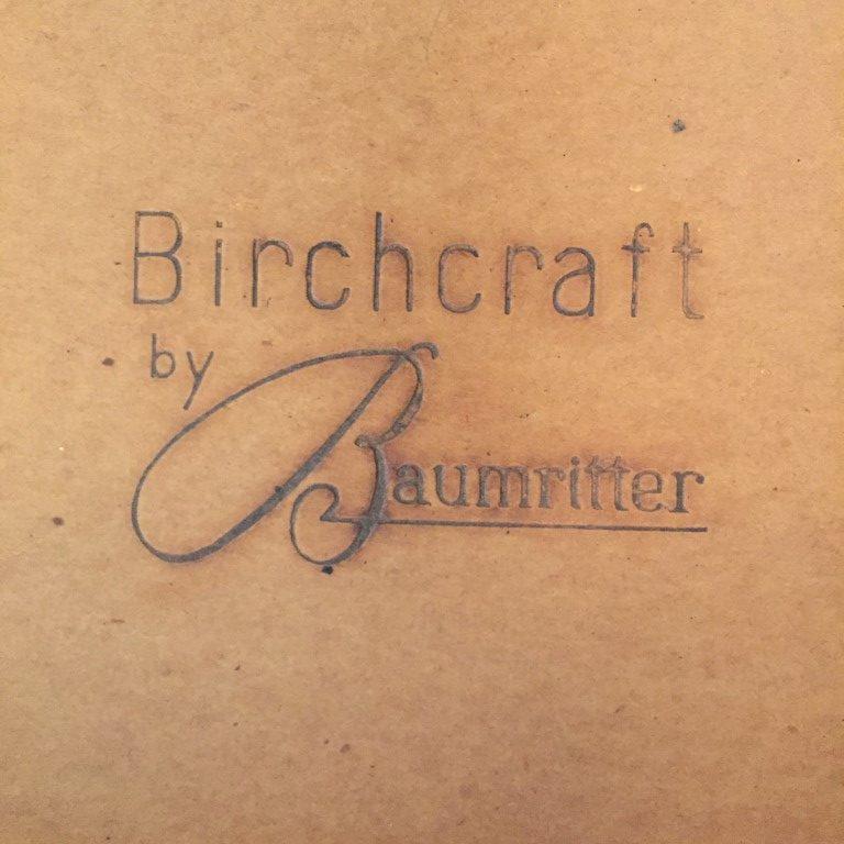 mid century modern birch dining chairs baumritter birchcraft