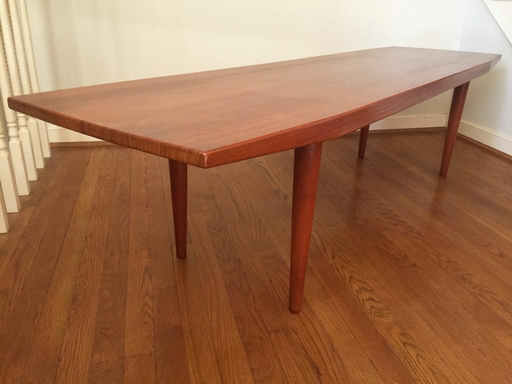 Mid Century Danish Modern Solid Teak Coffee Table EPOCH