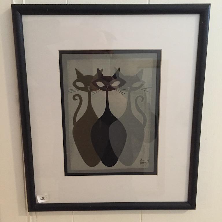 Mid Century Modern El Gato Gomez Cat Prints