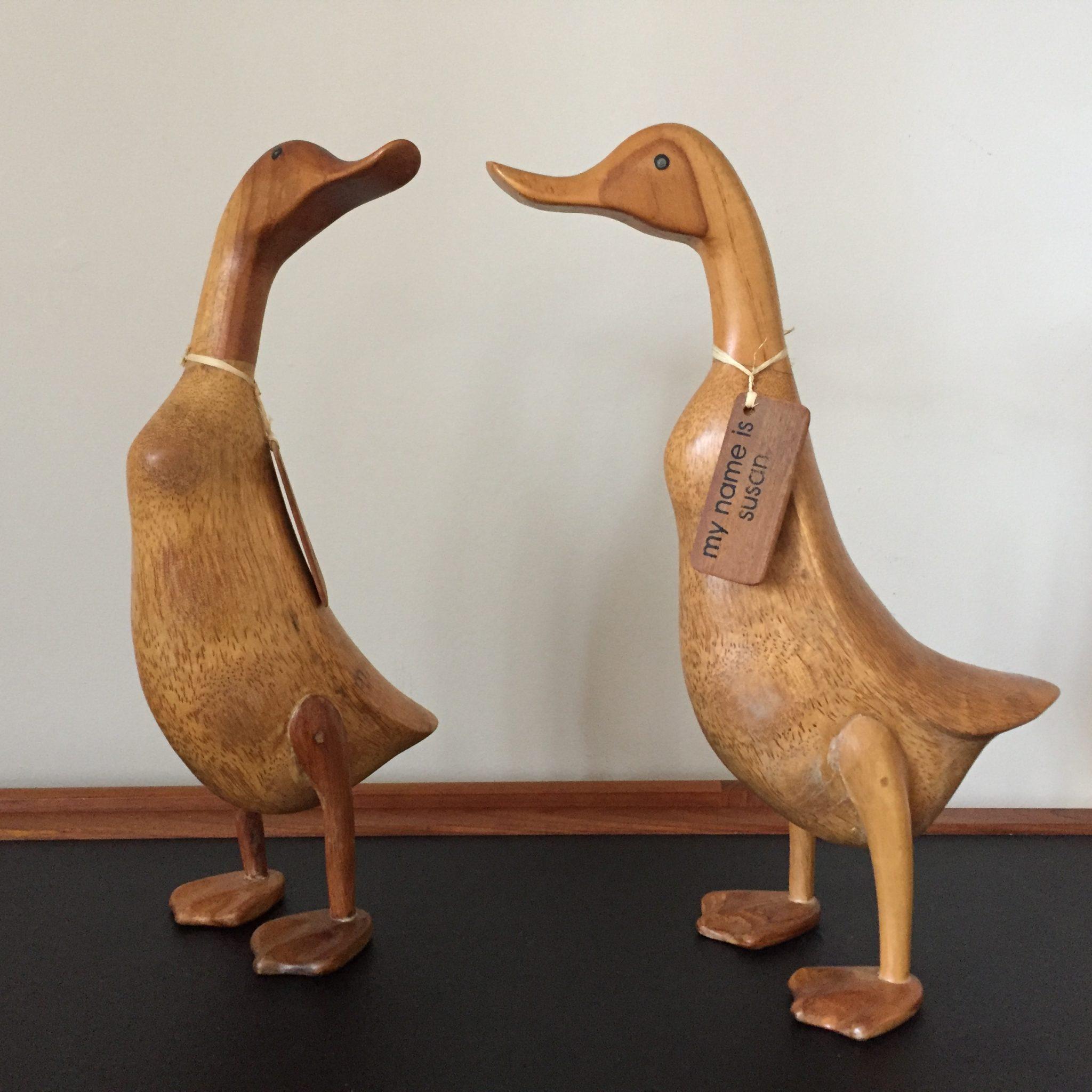 Hand Sculpted Decorative Bamboo Ducks Epoch