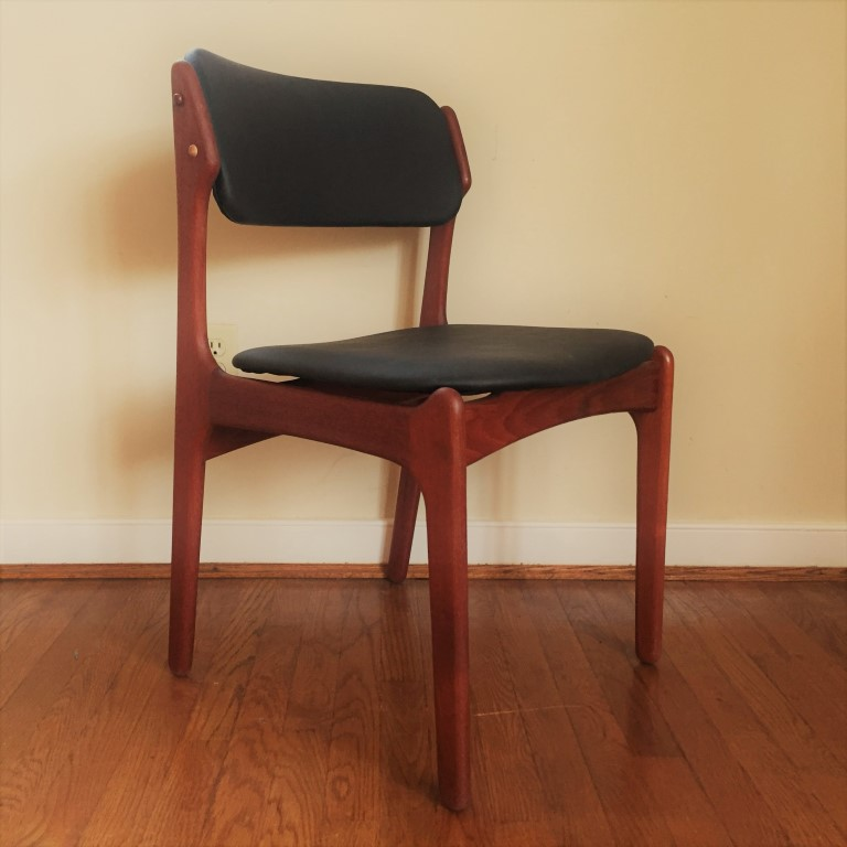 danish teak dining chairs Erik Buck model 49