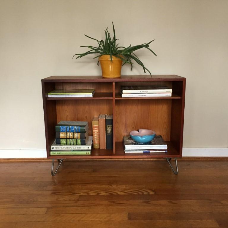 danish modern book shelf shelving unit