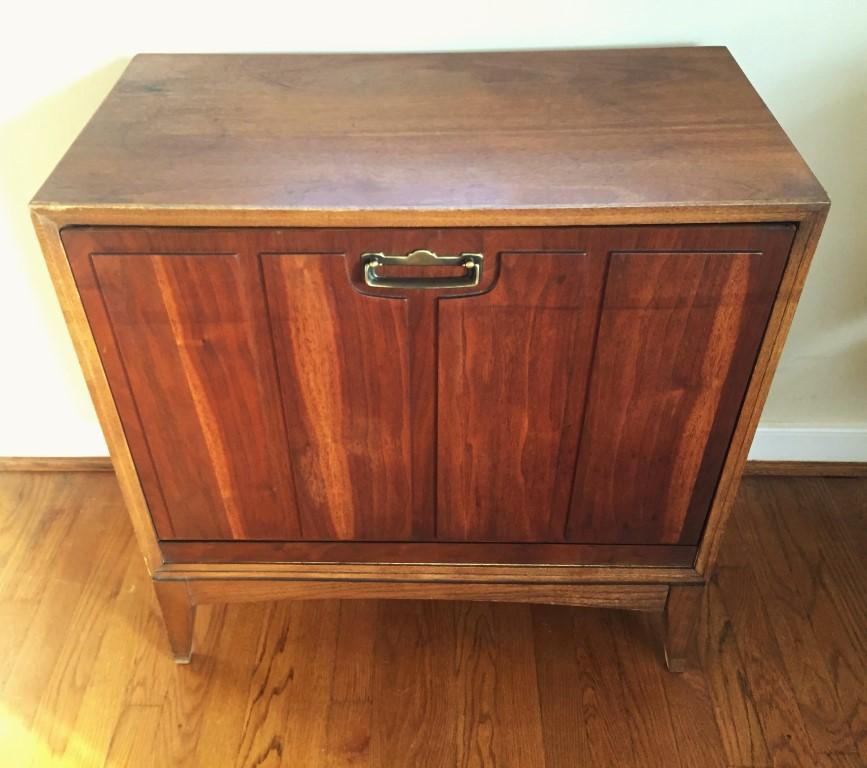 mid century modern lane vinyl record album storage cabinet circa 1961