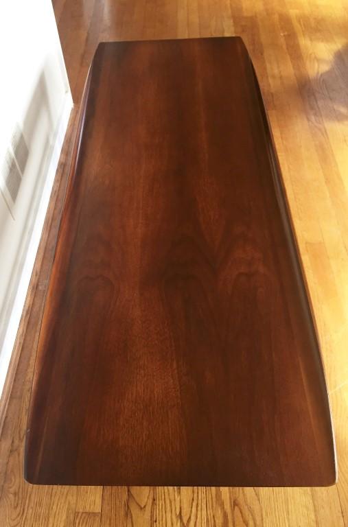 mid century modern walnut coffee table Bassett Artisan