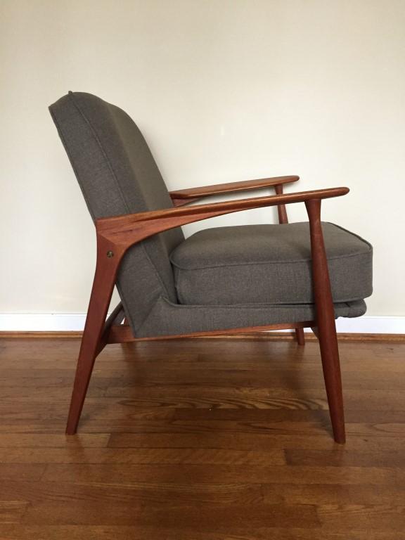 Danish Modern Teak Upholstered Armchair Epoch