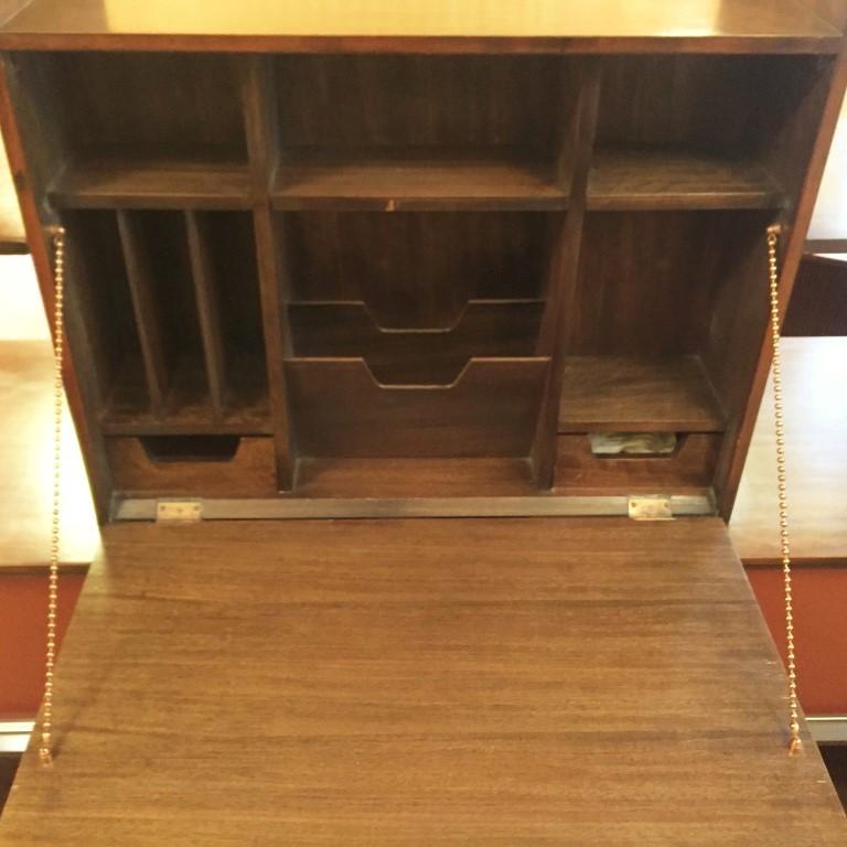 mid century modern room divider bar desk milo baughman drexel