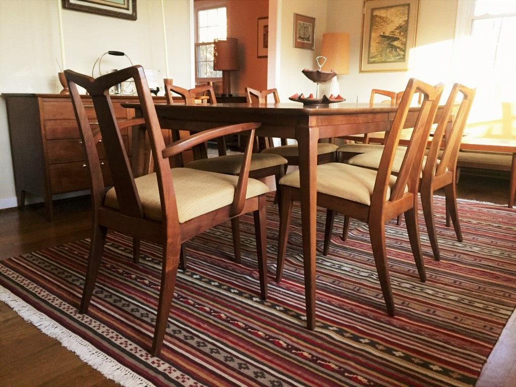 Mid Century Dining Set With Six Chairs Drexel U201cModernu201d Collection