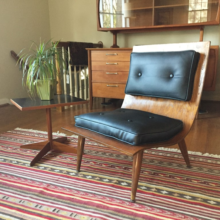 mid-century modern scoop chair 2 cushion design carter brothers