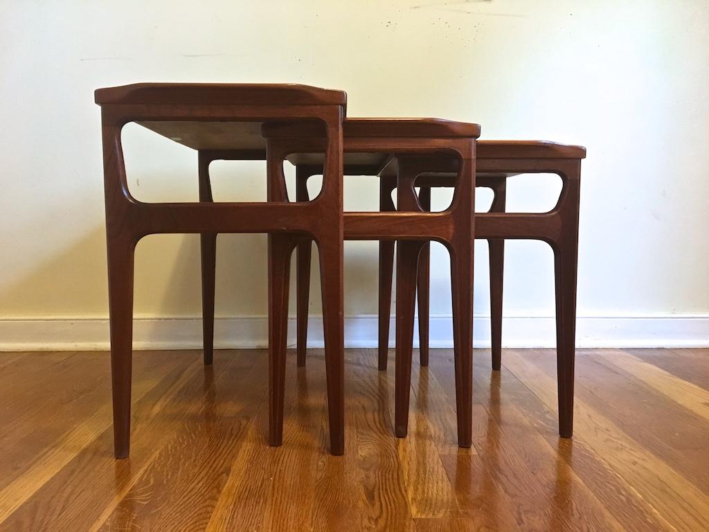 Mid Century Danish Teak Nesting Tables By Domus Danica For Heltborg Mobler