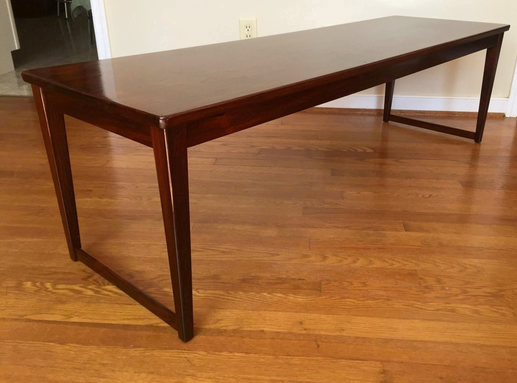 Captivating Danish Moderm Rosewood Coffee Table Bench Lankilde ...