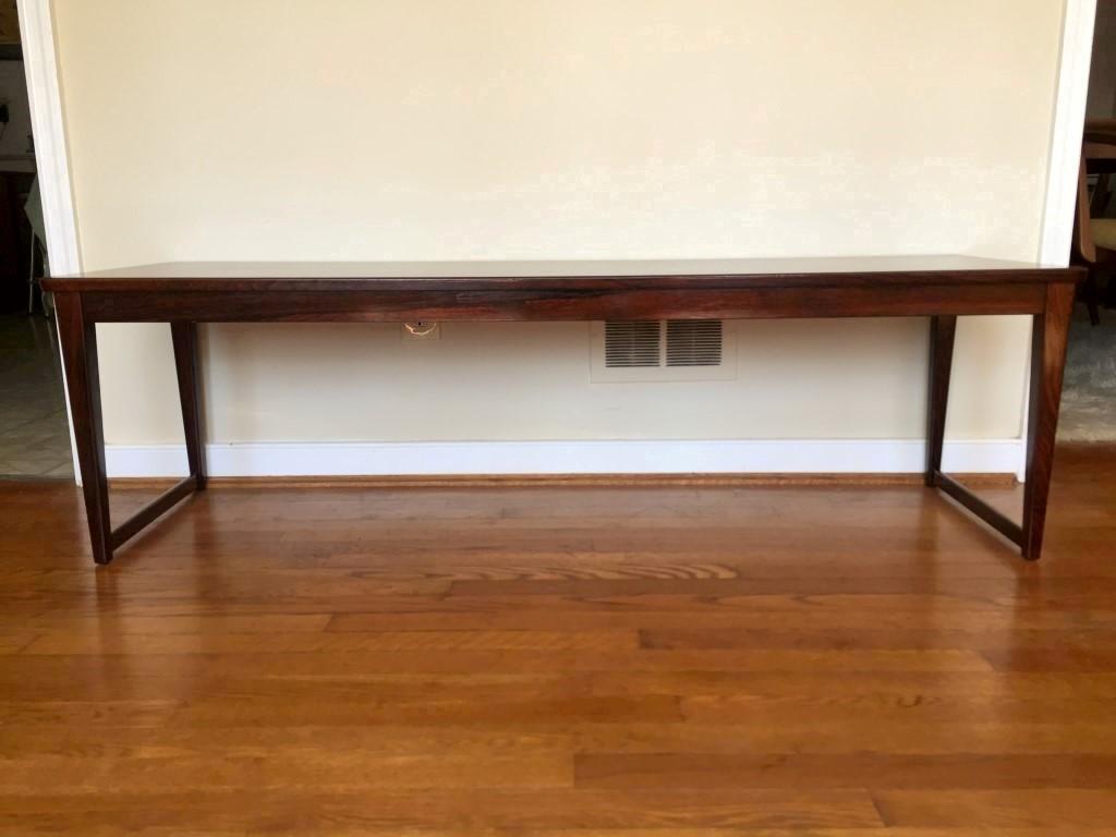 danish modern rosewood coffee table langkilde