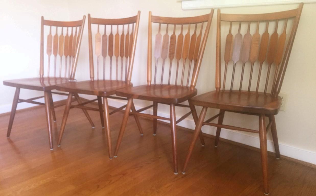 drexel declaration mid century modern dining chairs