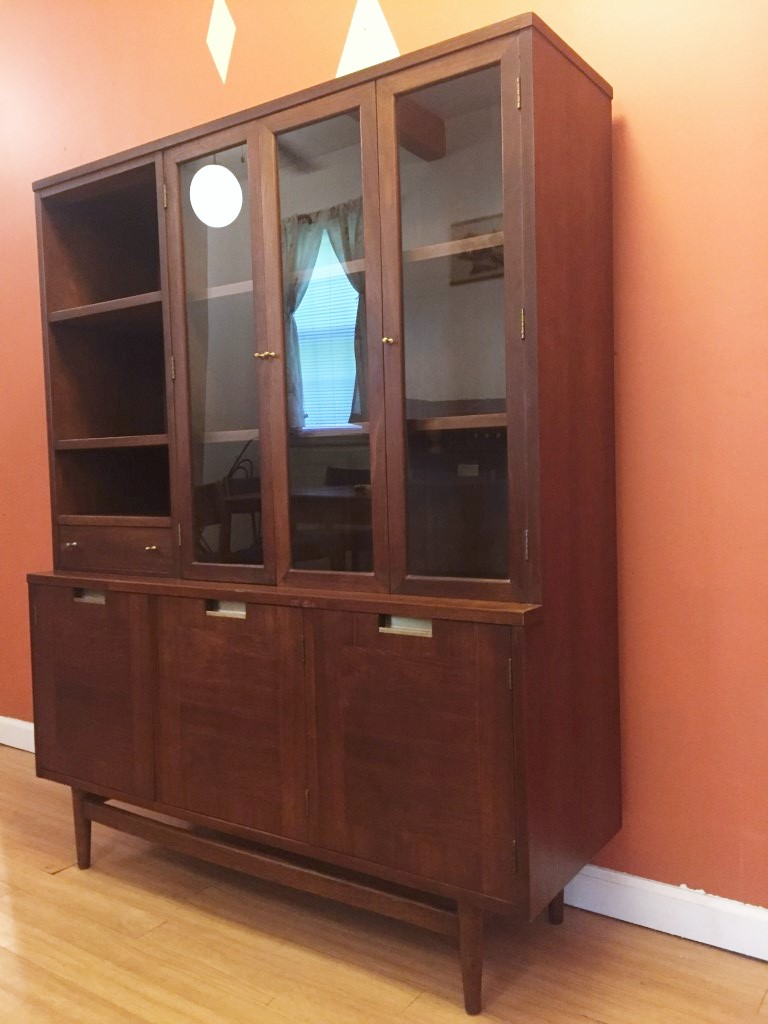 Mid Century Modern China Cabinet By American Of
