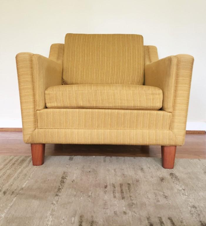 danish modern mid century upholstered lounge chairs