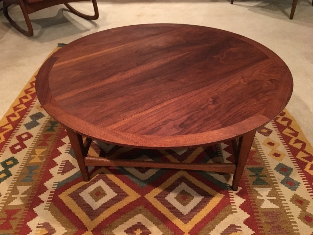 Mid Century Modern C 1962 Lane Circular Coffee Table Epoch