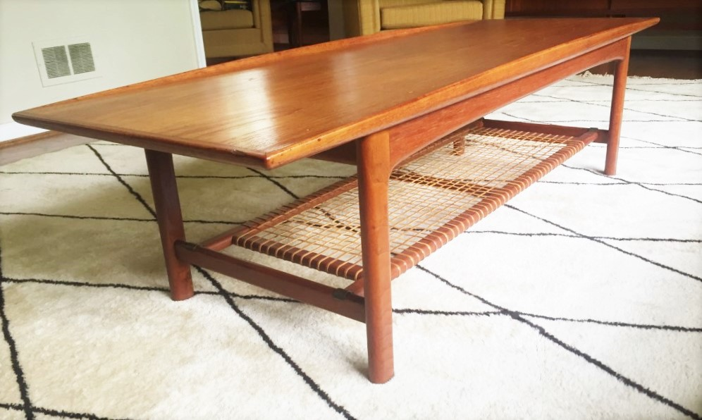 swedish modern teak coffee table folke ohlssen frisco