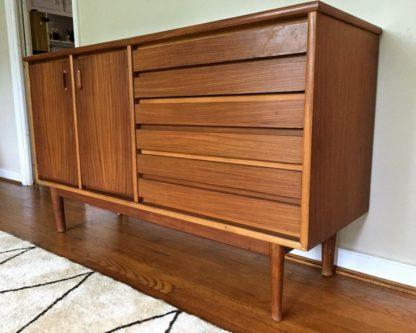 mid century modern walnut credenza stanley furniture