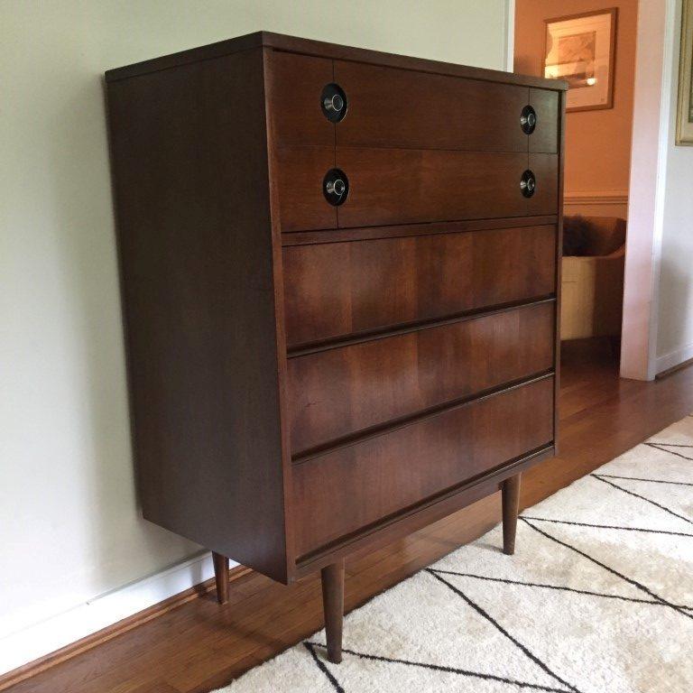 vintage mid century high dresser stanley